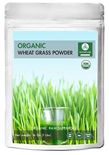 Organic Wheatgrass Powder (1lb) by Naturevibe Botanicals, Gluten-Free & Non-GMO (16 ounces)