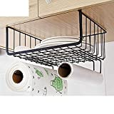 IHomee Under Shelf Basket Wire Rack Stainless Steel Kitchen Rack Storage Organizer (Black)