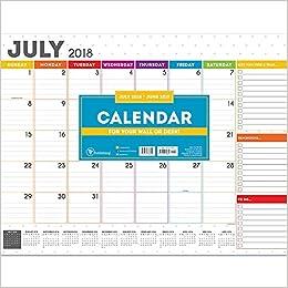 tf publishing 19 8018a july 2018 june 2019 rainbow dots desk pad calendar 22 x 17 rainbow
