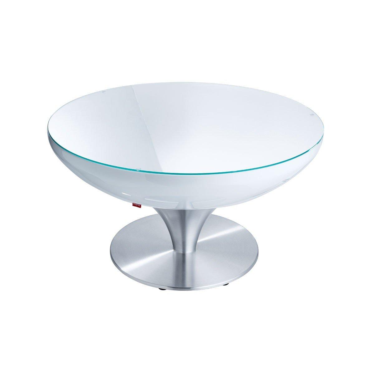 moree Lounge Tisch Lounge 45, Metallisch/Weiß, Aluminium/ Kunststoff, 07-05-04