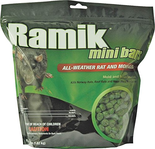 New Ramik Brute 116339 4lb Bag Nuggets Green Rat Rodent Bait Poison Works Great by Ramik