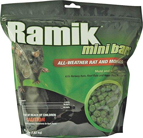 New Ramik Brute 116339 4lb Bag Nuggets Green Rat Rodent Bait Poison (Ramik Green Bait)