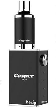 hecig Wax Dry hierbas Casper Trio vaporizing Caja mod electrónica Encendedor de Vape Kit hierbas vaporizador Kits para seca hierbas & Cera & CBD aceite sin nicotina: Amazon.es: Salud y cuidado personal