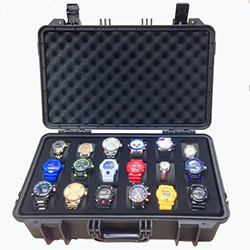 The Grail Box - Rugged, Heavy-Duty Watch Case for 18 Watches (Grail Kitchen)