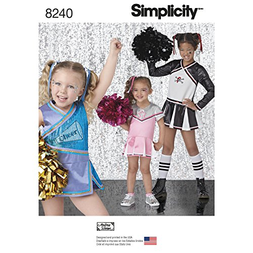 Simplicity Creative Patterns US8240HH 8240 Simplicity Pattern 8240 Child's & Girls' Cheer Costumes,,Size: Hh (Easy Sewing Patterns Halloween Costumes)