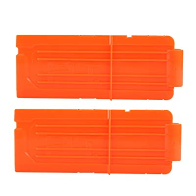 Yosoo 12 Round Darts Replacement Plastic Magazines Clip Orange for Gun N-Strike Elite (2 pcs Reload Clip): Sports & Outdoors