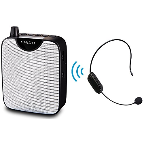 - Mini Portable Voice Amplifier Rechargeable Pa System Speaker with UHF Compact Handheld Wireless Microphone Headset for Karaoke, Teachers, Tour Guides, Trainers