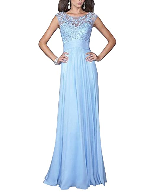 Matrimonio Azzurro Xl : Zongsen donna elegante vestiti da matrimonio pizzo abito in