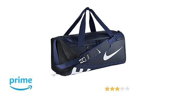 34dbd450308 Amazon.com  Nike Alpha Adapt Crossbody Medium Duffel Bag Midnight Navy Black White   Sports   Outdoors
