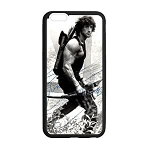Custom Rambo Sylvester Stallone Phone Case Laser Technology for iPhone 6 Plus Designed by HnW Accessories
