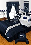 Penn State Nittany Lions QUEEN Size 14 Pc Bedding Set (Comforter, Sheet Set, 2 Pillow Cases, 2 Shams, Bedskirt, Valance/Drape Set - 84 inch Length & Matching Wall Hanging) - SAVE BIG ON BUNDLING!