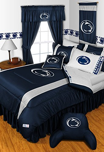 Penn State Nittany Lions KING Size 14 Pc Bedding Set (Comforter, Sheet Set, 2 Pillow Cases, 2 Shams, Bedskirt, Valance/Drape Set & Matching Wall Hanging) - SAVE BIG ON BUNDLING! by Sports Coverage