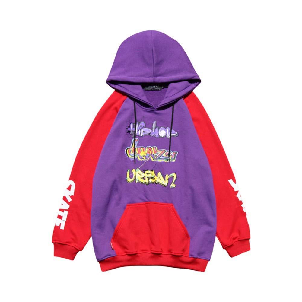 3D-Pullover Herbst Und Winter Farbabstimmung Mit Kapuze Hip Hop Paar Kapuzenpullover Männer Und Frauen Ins Wind Lose Street Fashion Hoodie