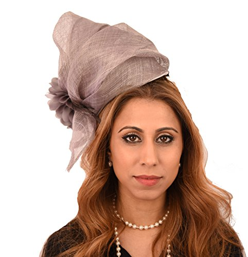 Gorgeous Pintail Black Sinamay Layers Ascot Derby Fascinator Hat - With Headband by Hats By Cressida