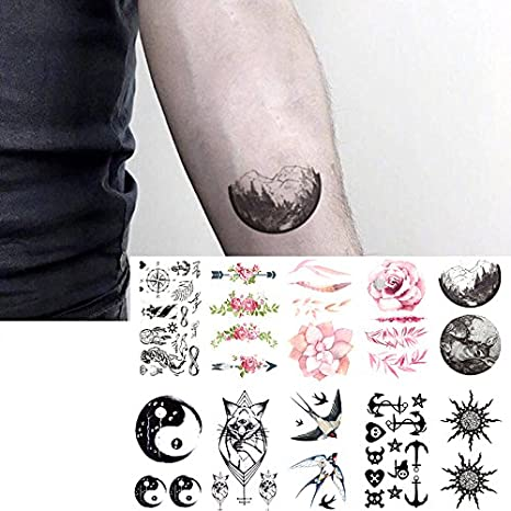 Oottati 10 Hojas Pequeñas Cute Dedo Tatuajes Temporales Cat Tai ...