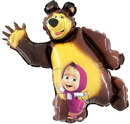 Amazon.com: Globo de aluminio con forma de Masha y el oso ...