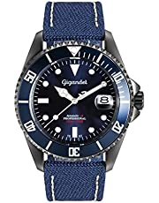 Gigandet Herrenuhr Automatik Analog mit Ledertextil-Armband Sea Ground G2-022