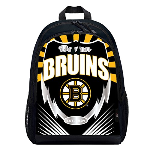 - The Northwest Company Officially Licensed NHL Boston Bruins Lightning Kids Sports Backpack, Black