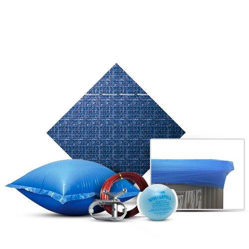 24' Round Winter Cover Kit, Includes Cover, Wrap, 4x8 Air Pillow and WinterPill, 10 Year Warranty