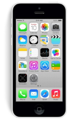 Apple iPhone 5C Factory Unlocked Cellphone, 8GB, White