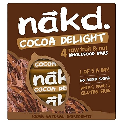 Nakd Libre De Cacao Deleite Multipack 4 X 35g (Paquete de 2)