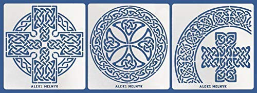 Pyrography and Engraving//Scrapbooking//Crafting//DIY Runes//Stainless Steel Stencil 1 PCS//Template Tool for Wood Burning Aleks Melnyk #63 Metal Journal Stencil//Celtic Compass