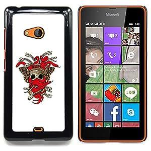 For Microsoft Nokia Lumia 540 N540 - Tribal Skull Weapon Crest /Modelo de la piel protectora de la cubierta del caso/ - Super Marley Shop -