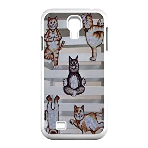 Yoga Cats DIY Cover Case for SamSung Galaxy S4 I9500,personalized phone case ygtg572047