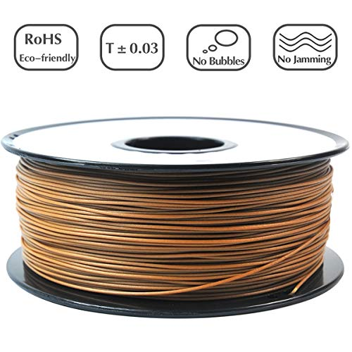 PRILINE Wood Filament 1.75 3D Printer Filament, Dimensional Accuracy +/- 0.03 mm, 1kg Spool ()