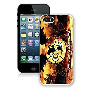 Hot Sale iPhone 5 5S Screen Cover Case With Club America 5 White iPhone 5 5S Case Unique And Beautiful Designed Phone Case