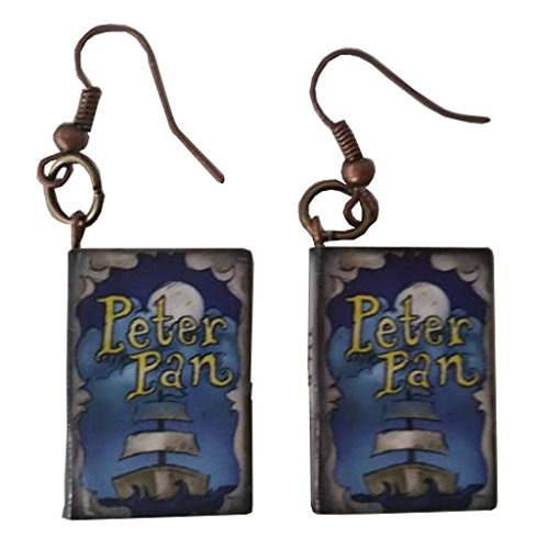 Homemade Peter Pan Costumes Women (Peter Pan Story Book Dangle Earrings)