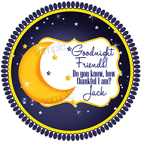 Moon and Stars Stickers Moon Stars Labels Twinkle Twinkle Little Star Baby Shower Birthday Party Favors Gift Stickers ()