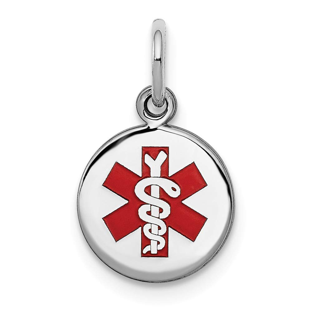 Beautiful Sterling silver 925 sterling Sterling Silver Rhodium-plated Medical Charm