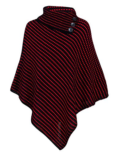 Red Femme 21fashion Noir Dots With Black Taille Pull Unique q00CAw