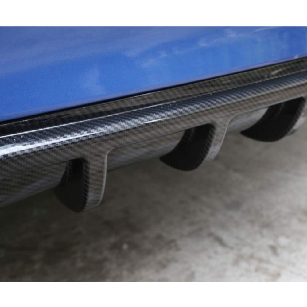 Walmeck Universal ABS Auto Heckspoiler Lip Diffusor Auto Hecksch/ürze Winglet Fl/ügel Lip Splitter 6 Fin Haifischflosse Stil Heckspoilerlippe