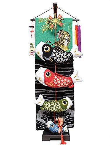 【五月人形】【室内鯉のぼり】室内鯉幟:金太郎と鯉のぼり(中)【つるし飾り】【こいのぼり】 B00PL5X8US