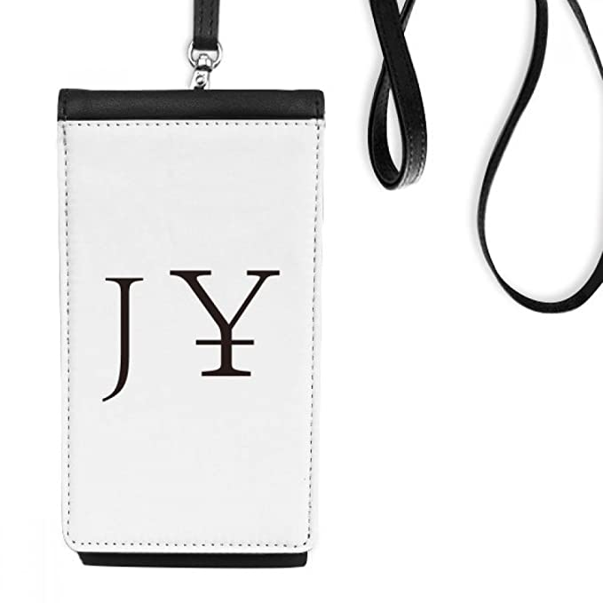 Currency Symbol Japanese Yen Faux Leather Smartphone Hanging Purse