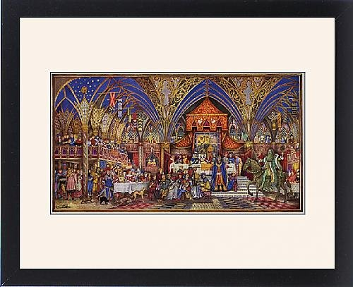 Framed Print of Sir Gawain and the Green Knight by William McLaren