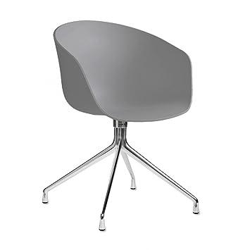 Esszimmer drehstuhl mit armlehne  HAY, About a Chair 20, Drehstuhl mit Armlehnen, Sitzschale grau ...
