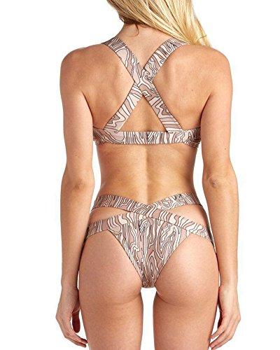 Mujeres Bikini Push-up Acolchado Bra Traje De Baño Raya