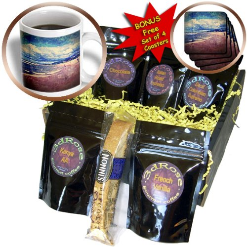 Perkins Designs Summertime - A Day At The Beach - from a photograph of Lake Michigan in Holland, Michigan - Coffee Gift Baskets - Coffee Gift Basket (cgb_39413_1)