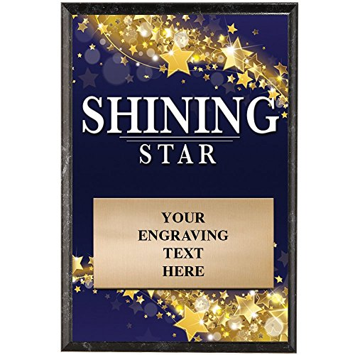 (Crown Awards Corporate Plaques - 5 x 7 Shining Star Recognition Trophy Plaque Award Prime)