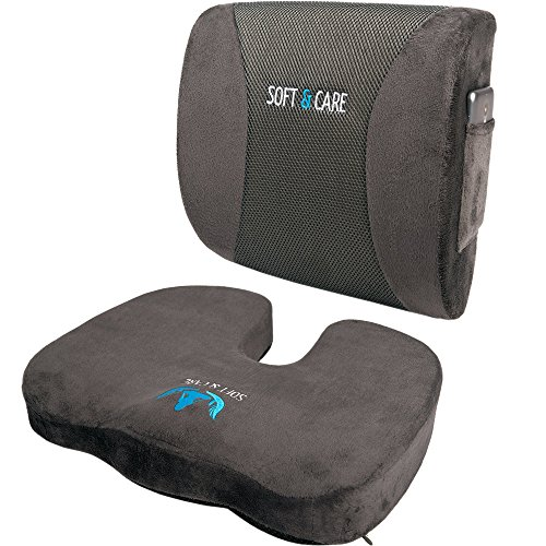 SOFTaCARE Seat Cushion Coccyx Orthopedic Memory Foam Lumbar