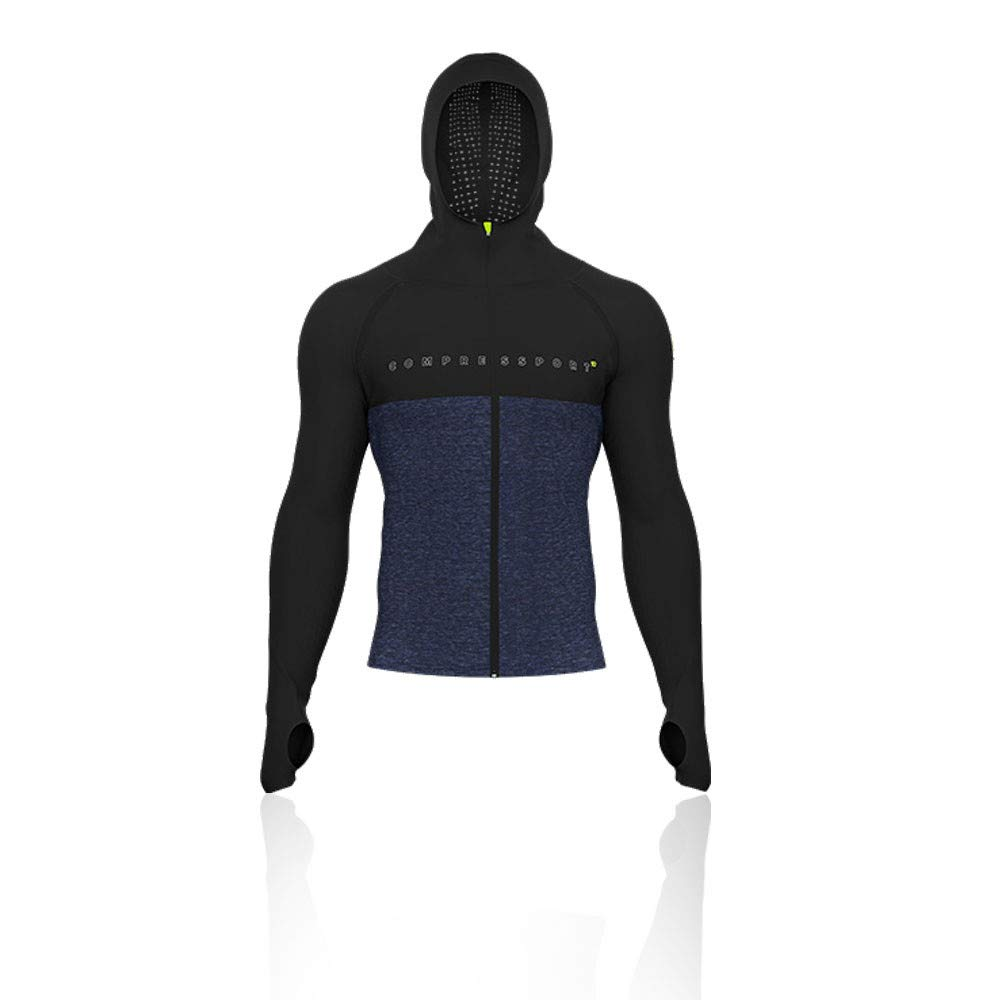 Compressport 3D Thermo Seamless Zip Hoodie - Black Edition - AW18