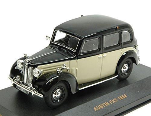 IXO MODEL MUS060 AUSTIN FX3 BLACK BEIGE RHD 1954 1:43 MODELLINO DIE CAST MODEL