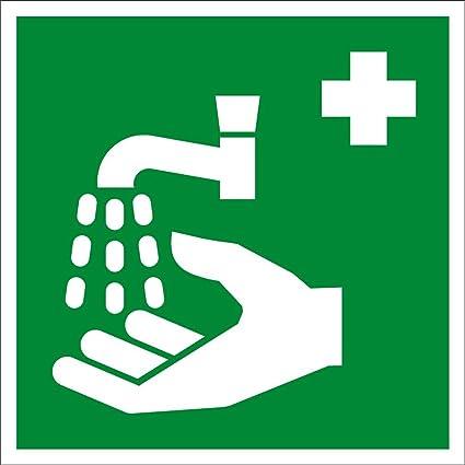 Amazon Hand Wash Symbol Safety Aluminum Metal Sign Sports