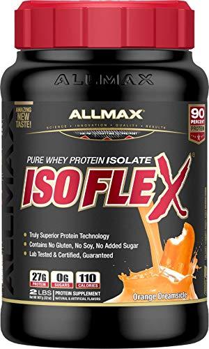 ALLMAX Nutrition Isoflex Whey Protein Isolate, Orange, 2 lbs (Best Protein For P90x)