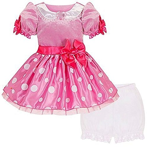 Disney Store Minnie Mouse Pink Costume Dress Size 6-12 (Barbie Ballerina Slippers)