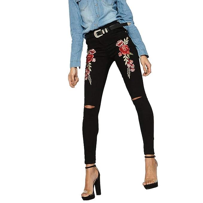 STRIR Mujer Vaqueros Slim, Skinny Pantalones Jeans Mujer ...