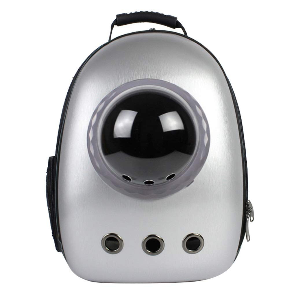 3 Pet Backpack Capsule Astronaut Portable Bubble Premium Backpack For Cat Dog Puppy Airline Travel Approved Carrier Transparent (29× 27× 42cm)